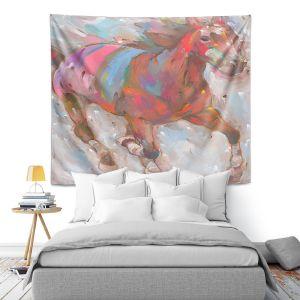 Artistic Wall Tapestry | Hooshang Khorasani Wind Racer Horse