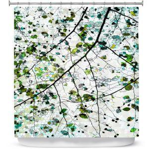 Unique Shower Curtain from DiaNoche Designs by Iris Lehnhardt - Green Veil