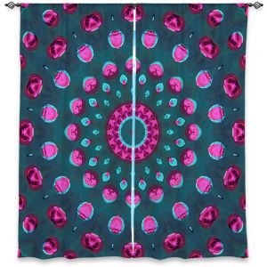 Unique Window Curtains Unlined 40w x 52h from DiaNoche Designs by Iris Lehnhardt - Magenta and Emerald Green