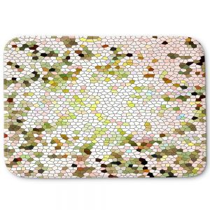 Unique Bath Mat Large from DiaNoche Designs by Iris Lehnhardt - Mosaic Veil Pastel