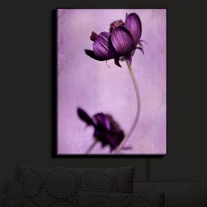 Unique Illuminated Wall Art 20 x 16 from DiaNoche Designs by Iris Lehnhardt - Purple Blossoms