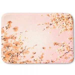 Unique Bath Mat Large from DiaNoche Designs by Iris Lehnhardt - Spring Mosaic Pink