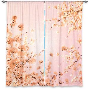 Unique Window Curtain Unlined 40w x 82h from DiaNoche Designs by Iris Lehnhardt - Spring Mosaic Pink