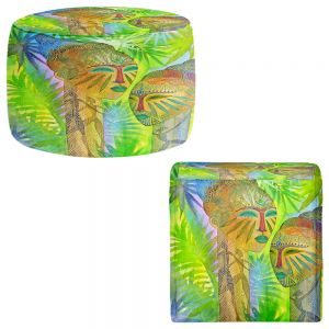 Round and Square Ottoman Foot Stools | Jennifer Baird - African Forest Queens