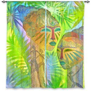Decorative Window Treatments | Jennifer Baird African Forest Queens