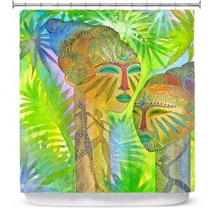 Premium Shower Curtains | Jennifer Baird African Forest Queens