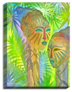 Decorative Canvas Unframed 14x11 from DiaNoche Designs by Jennifer Baird - African Forest Queens