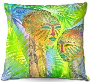 Throw Pillows Decorative Artistic | Jennifer Baird's African Forest Queens
