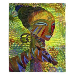 Decorative Fleece Throw Blankets | Jennifer Baird - African Queens