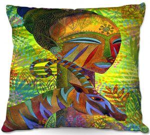 Decorative Outdoor Patio Pillow Cushion | Jennifer Baird - African Queens