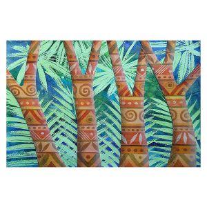 Decorative Floor Covering Mats | Jennifer Baird - Amerindian Forest | Nature Trees Forest