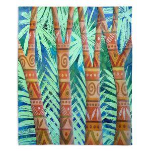 Decorative Fleece Throw Blankets | Jennifer Baird - Amerindian Forest | Nature Trees Forest