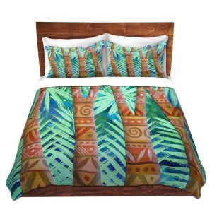 Artistic Duvet Covers and Shams Bedding | Jennifer Baird - Amerindian Forest | Nature Trees Forest