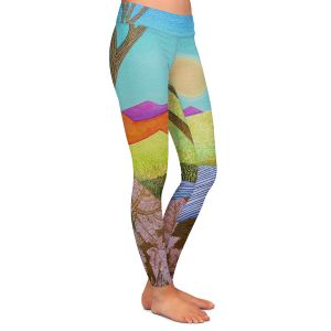 Casual Comfortable Leggings | Jennifer Baird - Autumn Into Winter | Mountains Trees River Nature Autumn Winter
