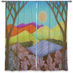 Decorative Window Treatments | Jennifer Baird - Autumn Into Winter | Mountains Trees River Nature Autumn Winter