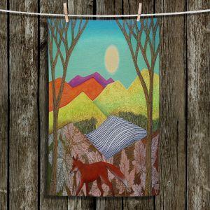 Unique Bathroom Towels | Jennifer Baird - Autumn Into Winter 2 | simple landscape surreal pattern