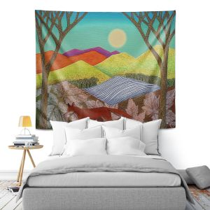 Artistic Wall Tapestry   Jennifer Baird - Autumn Into Winter 2   simple landscape surreal pattern