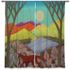 Decorative Window Treatments | Jennifer Baird - Autumn Into Winter 2 | simple landscape surreal pattern