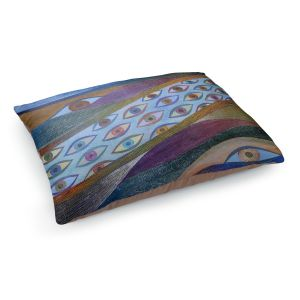 Decorative Dog Pet Beds | Jennifer Baird - Awake and Aware | abstract eye flow