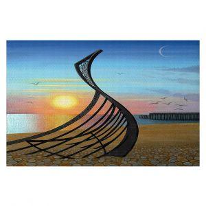 Decorative Floor Covering Mats | Jennifer Baird - Boat Sculpture | still life beach ocean coast