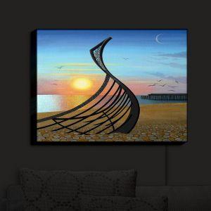 Nightlight Sconce Canvas Light | Jennifer Baird - Boat Sculpture | still life beach ocean coast