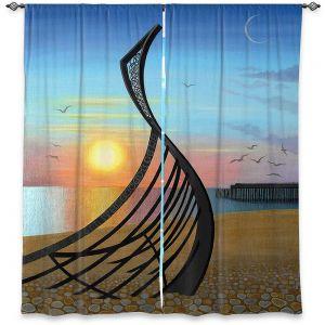 Decorative Window Treatments | Jennifer Baird - Boat Sculpture | still life beach ocean coast