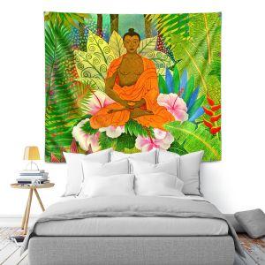 Artistic Wall Tapestry | Jennifer Baird Buddha in the Jungle