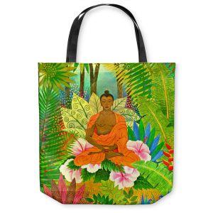 Unique Shoulder Bag Tote Bags | Jennifer Baird Buddha in the Jungle