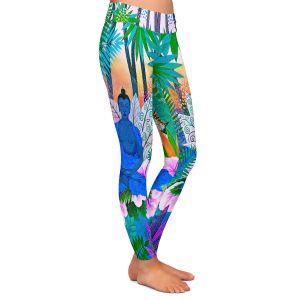 Casual Comfortable Leggings | Jennifer Baird - Buddha In the Jungle ll | Buddha Jungle Nature Trees Flowers