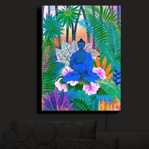 Nightlight Sconce Canvas Light | Jennifer Baird - Buddha In the Jungle II