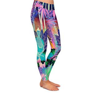 Casual Comfortable Leggings | Jennifer Baird - Buddha In the Jungle lll | Buddha Jungle Nature Trees Flowers
