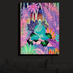 Nightlight Sconce Canvas Light | Jennifer Baird - Buddha In the Jungle III