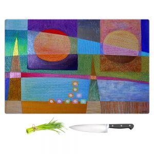 Artistic Kitchen Bar Cutting Boards | Jennifer Baird - Change of Season | abstract pattern landscape