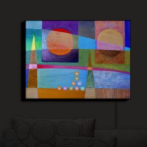 Nightlight Sconce Canvas Light | Jennifer Baird - Change of Season | abstract pattern landscape