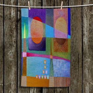 Unique Hanging Tea Towels | Jennifer Baird - Change of Season | abstract pattern landscape