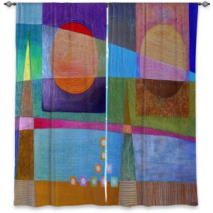 Decorative Window Treatments | Jennifer Baird - Change of Season | abstract pattern landscape