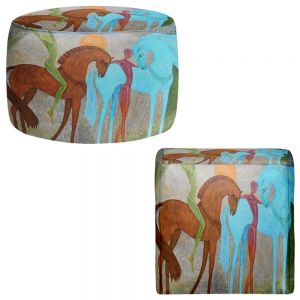 Round and Square Ottoman Foot Stools | Jennifer Baird - Companions