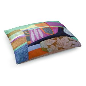 Decorative Dog Pet Beds | Jennifer Baird - Deep TIme 4 | abstract surreal shapes