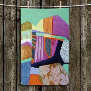 Unique Bathroom Towels | Jennifer Baird - Deep TIme 4 | abstract surreal shapes