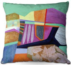 Throw Pillows Decorative Artistic   Jennifer Baird - Deep TIme 4   abstract surreal shapes