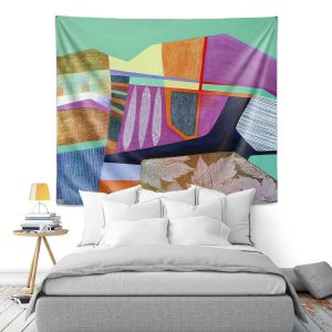 Artistic Wall Tapestry | Jennifer Baird - Deep TIme 4 | abstract surreal shapes