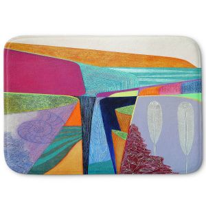 Decorative Bathroom Mats | Jennifer Baird - Deep Time 5 | abstract surreal shapes