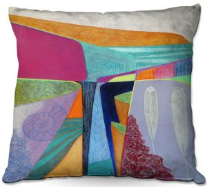 Throw Pillows Decorative Artistic | Jennifer Baird - Deep Time 5 | abstract surreal shapes