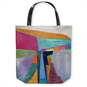 Unique Shoulder Bag Tote Bags   Jennifer Baird - Deep Time 5   abstract surreal shapes
