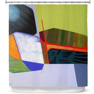 Premium Shower Curtains | Jennifer Baird - Deep Time 7 | abstract surreal shapes