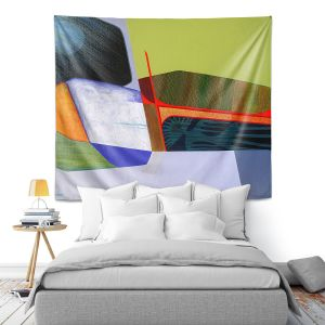 Artistic Wall Tapestry | Jennifer Baird - Deep Time 7 | abstract surreal shapes