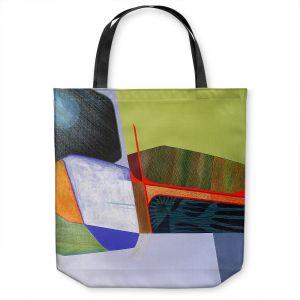 Unique Shoulder Bag Tote Bags   Jennifer Baird - Deep Time 7   abstract surreal shapes