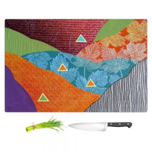 Artistic Kitchen Bar Cutting Boards | Jennifer Baird - Depth Height | abstract surreal shapes