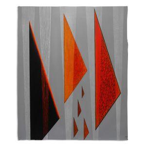 Decorative Fleece Throw Blankets | Jennifer Baird - Drift | abstract surreal shapes