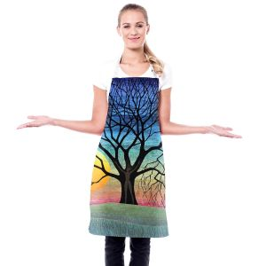 Artistic Bakers Aprons   Jennifer Baird - Dryad 2   Nature Trees Forest Sun Moon People